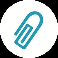 paper clip icon wolf